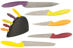 Set of knives for the kitchen Royalty Free Stock Photography