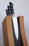 Set of knives for kitchen Stock Photos