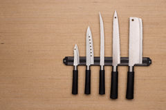 A set of knives Royalty Free Stock Photos