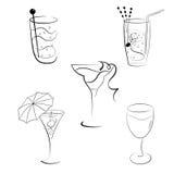 Set koktajle i wina Obraz Royalty Free