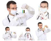 Set (kolaż) lekarka Obraz Royalty Free