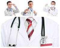 Set (kolaż) lekarka Obraz Stock