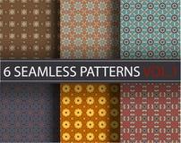 Set, kolekcja, juczni ogólnoludzcy wektorowi bezszwowi wzory, tafluje geometryczni ornamenty ilustracja wektor