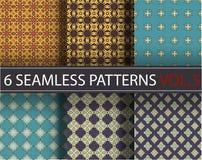 Set, kolekcja, juczni ogólnoludzcy wektorowi bezszwowi wzory, tafluje geometryczni ornamenty Fotografia Stock