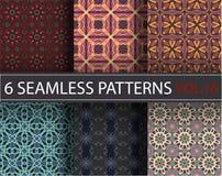 Set, kolekcja, juczni ogólnoludzcy wektorowi bezszwowi wzory, tafluje geometryczni ornamenty royalty ilustracja