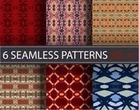 Set, kolekcja, juczni ogólnoludzcy wektorowi bezszwowi wzory, tafluje geometryczni ornamenty ilustracji
