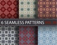 Set, kolekcja, juczni ogólnoludzcy wektorowi bezszwowi wzory, tafluje geometryczni ornamenty Zdjęcie Royalty Free