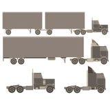 Set, kolekcja, paczek ciężarówki ilustracji