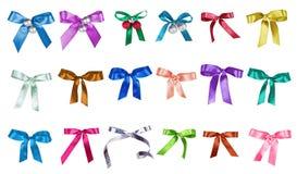Set kolorów łęki odizolowywający na bielu Fotografia Stock