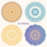 Set kolorów mandalas Fotografia Stock