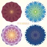 Set kolorów mandalas etniczni motywy Fotografia Stock