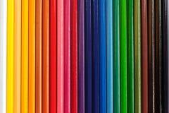 Set kolorów ołówków tła Obrazy Stock