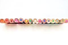 Set kolorów ołówki odizolowywający na białym tle Obraz Royalty Free