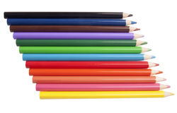 Set kolorów ołówki Obraz Royalty Free