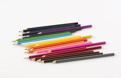 Set kolorów ołówki Fotografia Stock