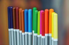 Set kolorów rysunkowi ołówki Zdjęcia Royalty Free