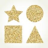 Set kolorów wektorowi sshiny geometryczni kształty Zdjęcie Royalty Free