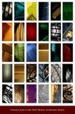 Set kolor karty z architektura szczegółami Obraz Royalty Free