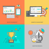 Set kolor linii ikony na temacie biznes Obraz Royalty Free