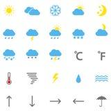 Set kolor pogody ikony, ilustracja Zdjęcia Royalty Free
