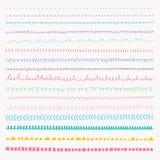 Set Kolorowa kreskowa ręka rysować grunge tekstury Obraz Royalty Free