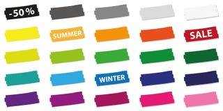 Set kolorowe ceny oferty etykietki dla promoci ilustracji