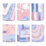 Set Kolorowe Geometryczne broszurki i karty Obrazy Stock