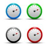 Set kolorowe, glansowane, kolorowe ikony z, Zdjęcia Stock