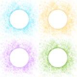 Set Kolorowe Lekkie abstraktów okregów ramy Fotografia Stock