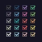 Set kolorowe oceny Obraz Royalty Free