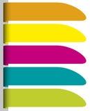 Set kolorowe papierowe etykietki Obrazy Royalty Free