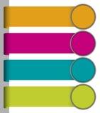 Set kolorowe papierowe etykietki Fotografia Stock
