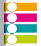 Set kolorowe papierowe etykietki Fotografia Royalty Free