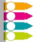 Set kolorowe papierowe etykietki Zdjęcia Stock