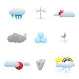 Set kolorowe pogodowe ikony ilustracji