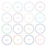 Set Kolorowe Round ramy Dla dekoraci Zdjęcia Royalty Free
