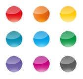 Set kolorowe wektorowe odznaki Obraz Stock