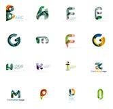 Set kolorowego abstrakta listu korporacyjni logowie Zdjęcie Stock