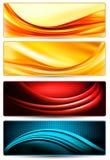 Set kolorowi abstrakcjonistyczni biznesowi sztandary. Fotografia Royalty Free