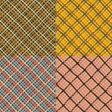Set kolorowi bezszwowi projekty royalty ilustracja
