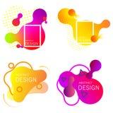 Set kolorowi elementy, gradientowy abstrakt ilustracji
