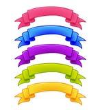 Set kolorowi faborki Obrazy Royalty Free