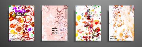 Set kolorowi farba projekta szablony dla broszurek, ulotek, mobilnych technologii, zastosowań i online usługa, ilustracja wektor