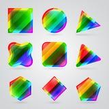 Set kolorowi geometryczni kształty ilustracja wektor