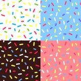 Set Kolorowi glazerunków tła royalty ilustracja