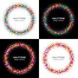 Set Kolorowi Jaskrawi Halftone okręgi Obrazy Stock