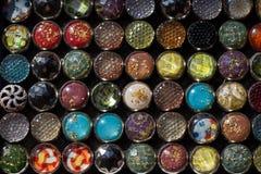 Set kolorowi jaskrawi szy guziki Fotografia Stock
