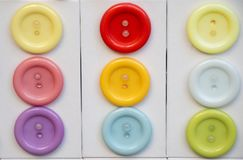 Set kolorowi jaskrawi szy guziki Zdjęcia Royalty Free