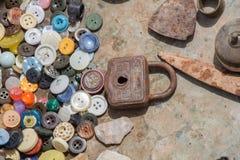 Set kolorowi jaskrawi szy guziki Zdjęcie Royalty Free