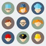 Set kolorowi ludzie zajęcie ikon Fotografia Royalty Free